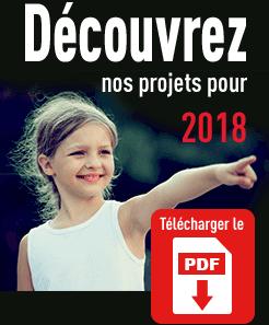 Découvrez nos projets pour 2018 | Télécharger le PDF